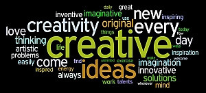 creative services graphic of related words